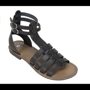 bd3efe7487c Women s Black And White Gladiator Sandals Zipper Back on Poshmark